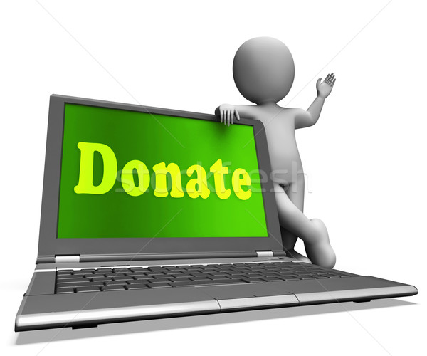 Donate Laptop Shows Charity Donations And Fundraising Stock photo © stuartmiles