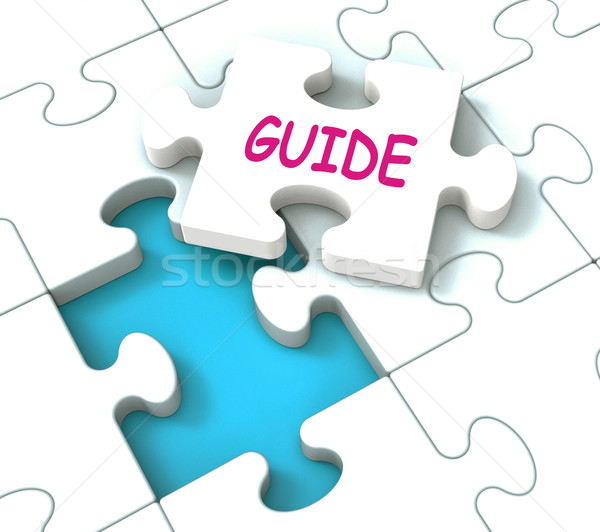 Guide Puzzle Shows Consulting Guidance Guideline And Guiding Stock photo © stuartmiles