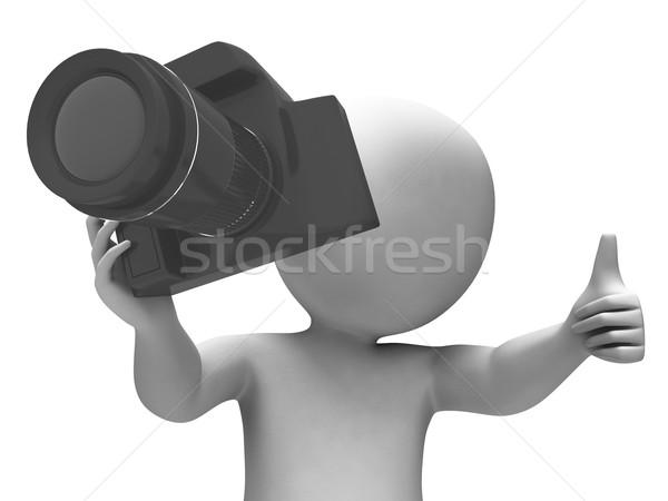 Fotózás karakter elvesz fotó dslr fénykép Stock fotó © stuartmiles