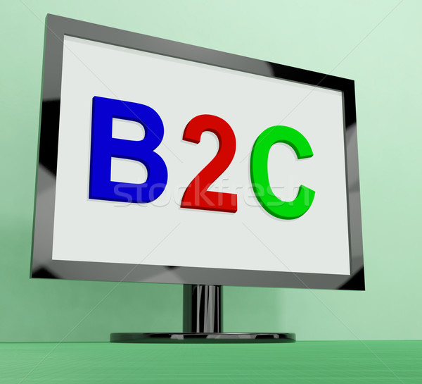 B2c On Monitor Shows Business To Customer Or Consumer Stock photo © stuartmiles