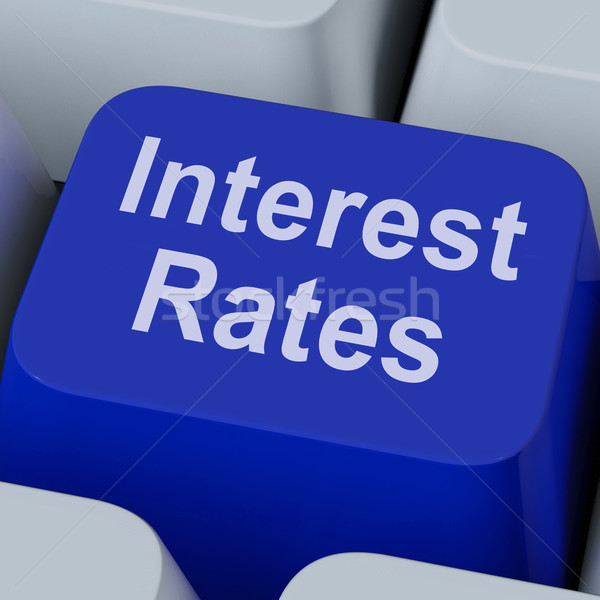 Interest Rate Key Shows Investment Percent Online Stock photo © stuartmiles