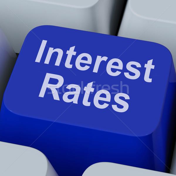 Kamatláb kulcs beruházás százalék online mutat Stock fotó © stuartmiles