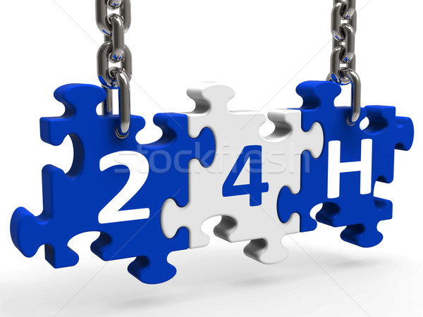 24h On Puzzle Shows All Day 24hr Service Stock photo © stuartmiles