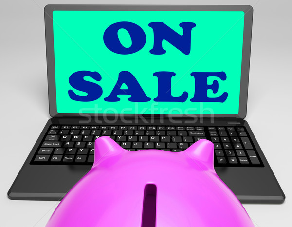 On Sale Laptop Shows Internet Discounts And Specials Stock photo © stuartmiles