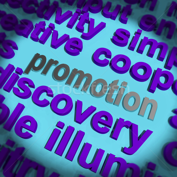 Promotion Word Means Advertising Campaign Or Special Deal Stock photo © stuartmiles