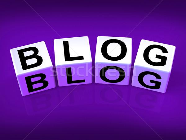 Blog blokken show webpagina tijdschrift tonen Stockfoto © stuartmiles