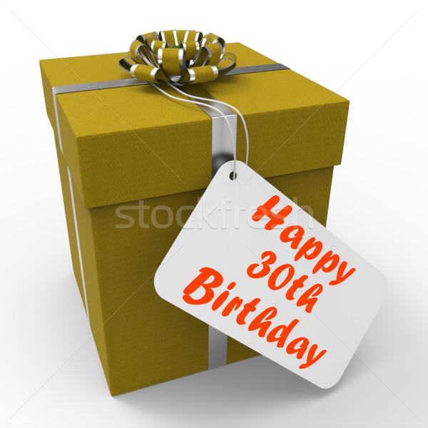 Mutlu doğum günü hediye yaş otuz Stok fotoğraf © stuartmiles