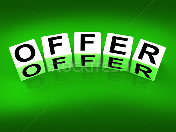 Offer Blocks Mean Promote Propose and Submit Stock photo © stuartmiles