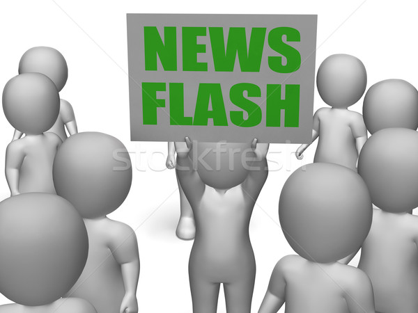 News Flash Board Character Means Breaking Or Last Minute News Stock photo © stuartmiles