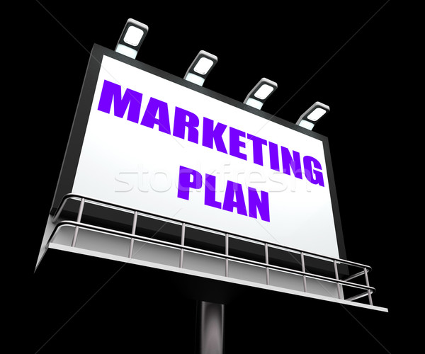 Marketing Plan Sign Refers to Financial and Sales Objectives Stock photo © stuartmiles