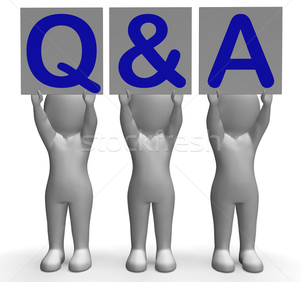 Q&A Banners Shows Online Support And Assistance Stock photo © stuartmiles