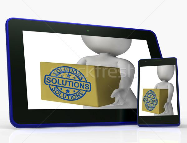 Oplossingen vak problemen verbetering betekenis internet Stockfoto © stuartmiles