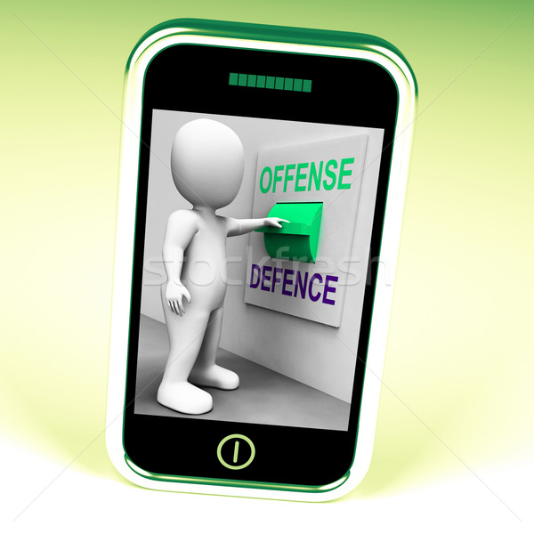 Offense Defence Switch Shows Attack Or Defend Stock photo © stuartmiles