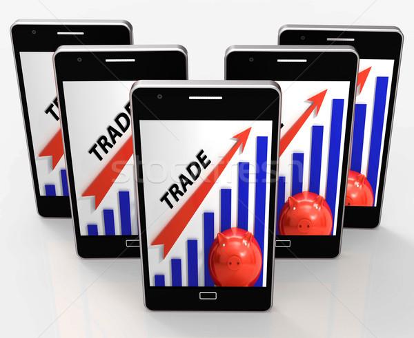 Kereskedelem grafikon növekedés piacok érték mutat Stock fotó © stuartmiles
