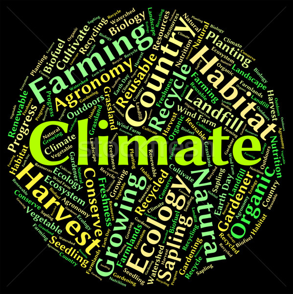 Climate Word Indicates Atmospheric Conditions And Weather Stock photo © stuartmiles