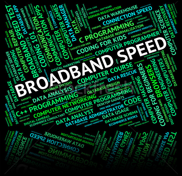 Broadband Speed Shows World Wide Web And Computer Stock photo © stuartmiles