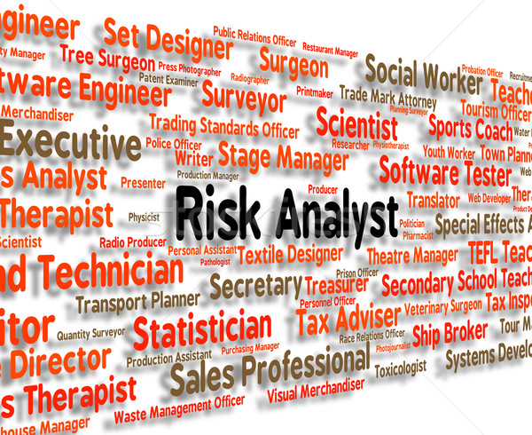 Risk Analyst Represents Analyse Analyze And Occupation Stock photo © stuartmiles
