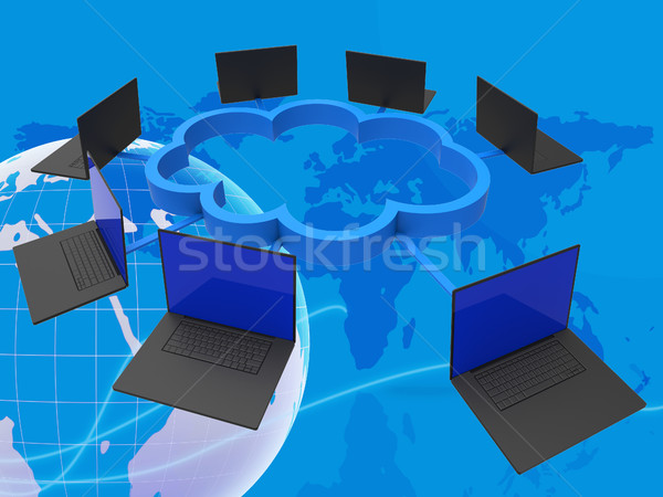 World Wide Indicates Lan Network And Computer Stock photo © stuartmiles
