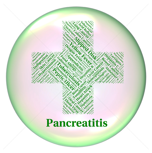 Pancreatitis Illness Means Disability Ailment And Indisposition Stock photo © stuartmiles