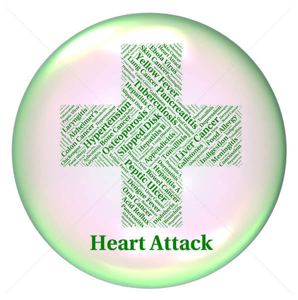 Heart Attack Indicates Ill Health And Ailments Stock photo © stuartmiles