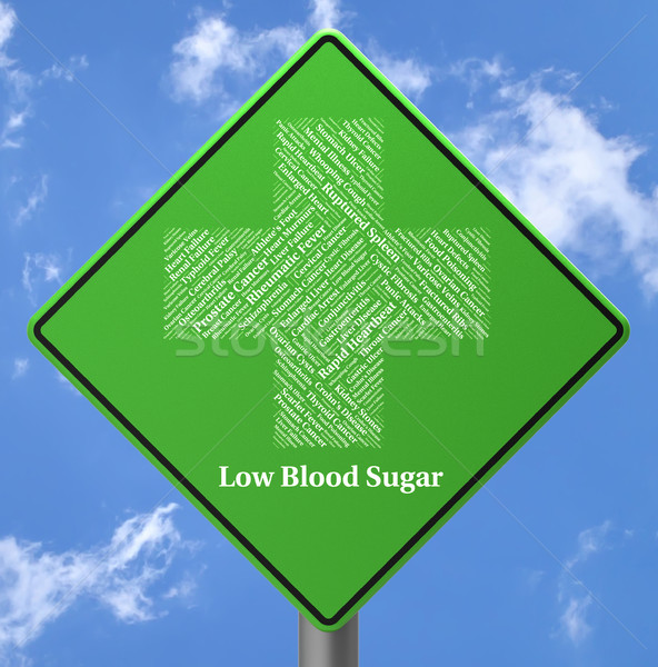 Low Blood Sugar Indicates Ill Health And Advertisement Stock photo © stuartmiles