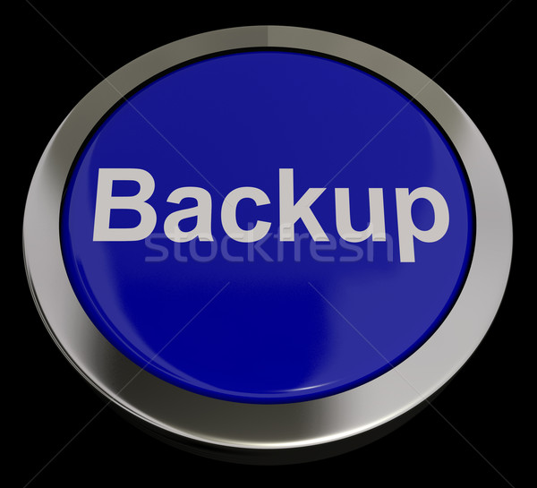 Backup Button In Blue For Archiving And Storage Stock photo © stuartmiles