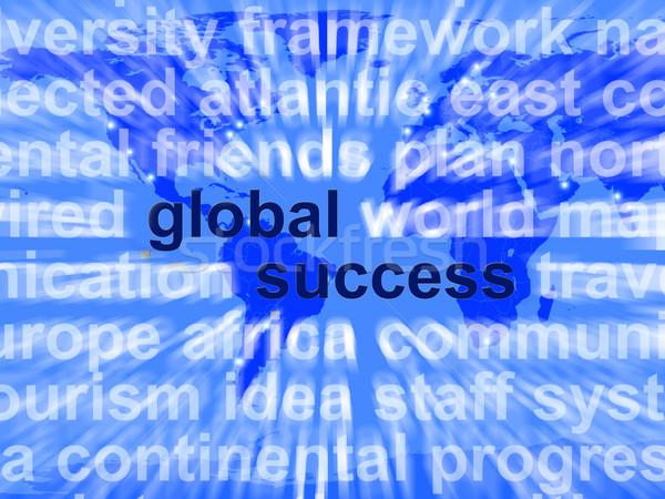 Globale successo parole globalizzazione business Foto d'archivio © stuartmiles