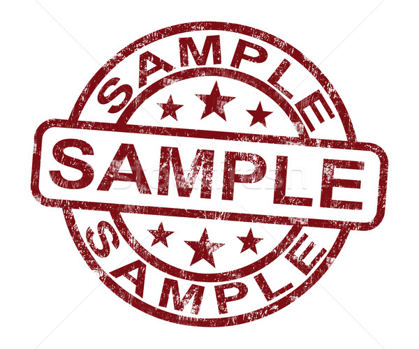 Sample Stamp Shows Example Symbol Or Taste Stock photo © stuartmiles