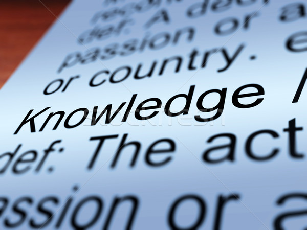 知識 定義 クローズアップ 教育 情報 ストックフォト © stuartmiles