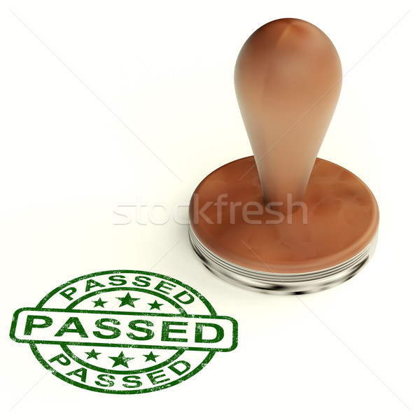 Passed Stamp Shows Quality Control Approved Product Stock photo © stuartmiles