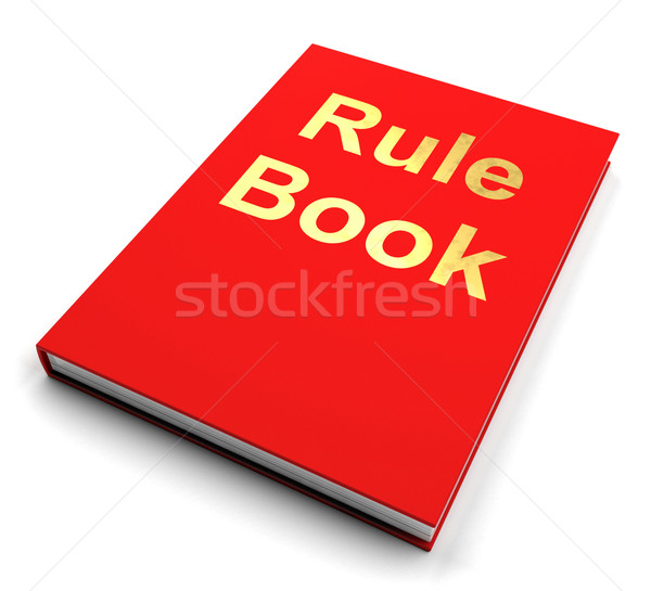 Rule Book Or Policy Guide Manual Stock photo © stuartmiles
