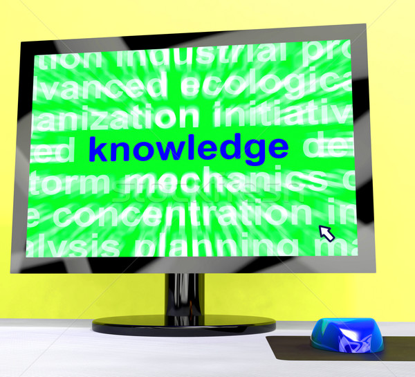 Knowledge Word On Computer Showing Wisdom And Learning Stock photo © stuartmiles