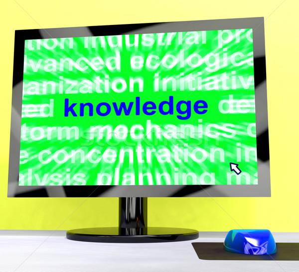 Kennis woord computer tonen wijsheid leren Stockfoto © stuartmiles