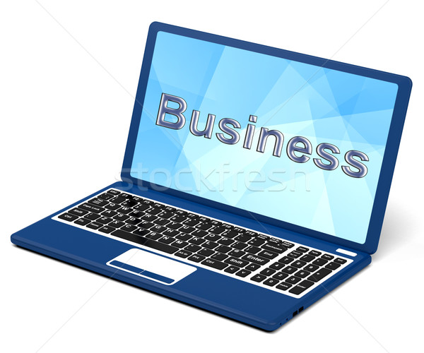 Business On Laptop Showing Commerce And Trade Stock photo © stuartmiles