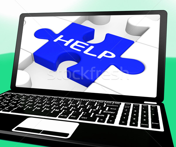 Сток-фото: помочь · головоломки · ноутбука · поддержки · веб