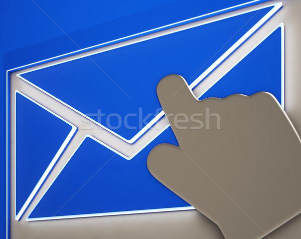 Boríték gomb mutat online levelezés elektronikus Stock fotó © stuartmiles