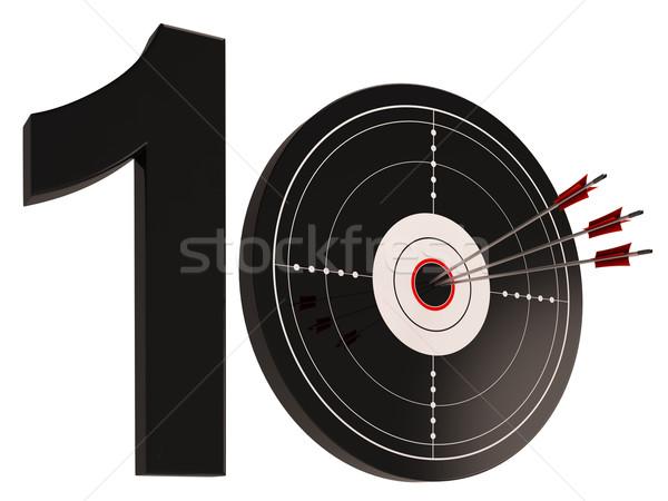 10 yıldönümü hedef doğum günü kutlama Stok fotoğraf © stuartmiles