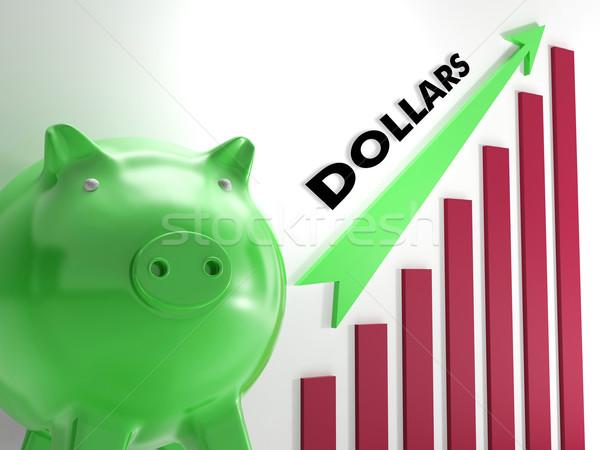 Raising dollars, usd Chart Showing American Revenues Stock photo © stuartmiles