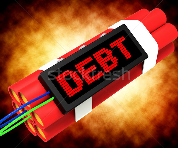 Debt Word On Dynamite Showing Bankruptcy And Poverty Stock photo © stuartmiles