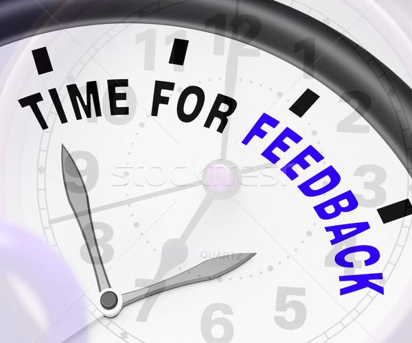 時間 フィードバック 意見 評価 ストックフォト © stuartmiles