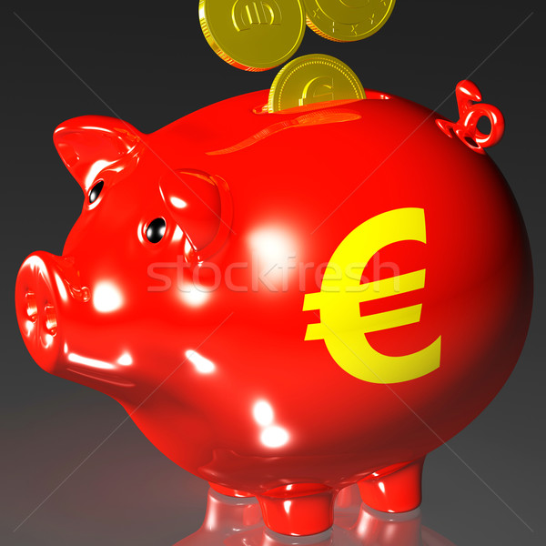 érmék persely európai biztonság pénz pénzügyi Stock fotó © stuartmiles