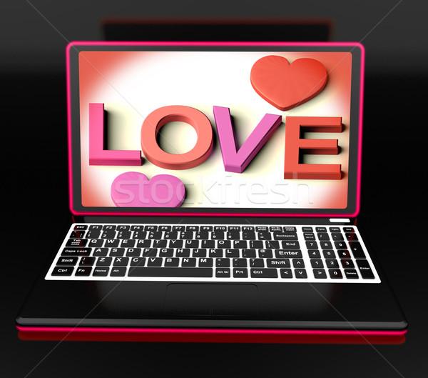 Love On Laptop Shows Romance Stock photo © stuartmiles