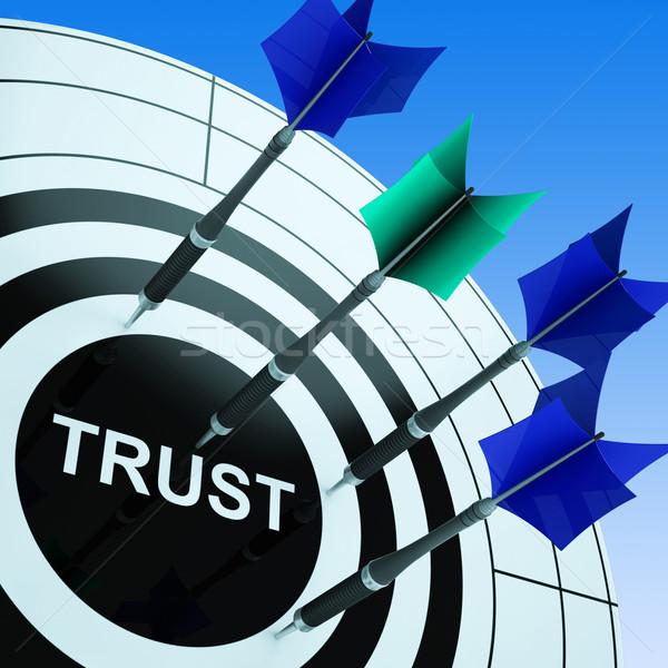 Vertrouwen betrouwbaarheid vertrouwen Stockfoto © stuartmiles