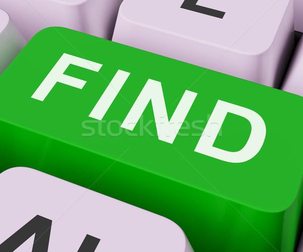 Odnaleźć kluczowych wyszukiwania odkrycie patrząc online Zdjęcia stock © stuartmiles