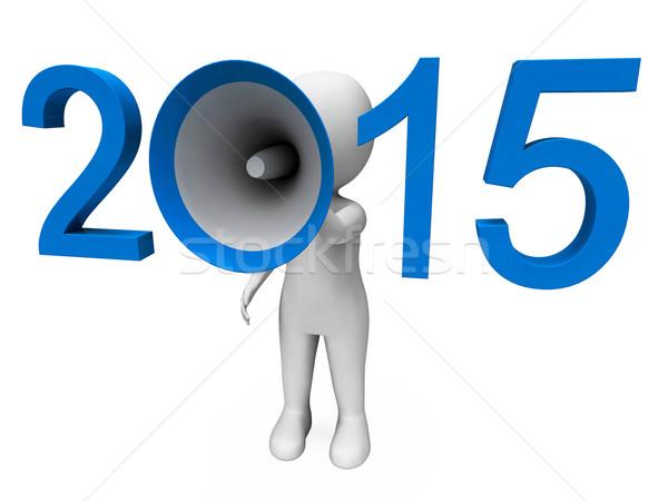Zwei tausend fünfzehn laut Jahr 2015 Stock foto © stuartmiles