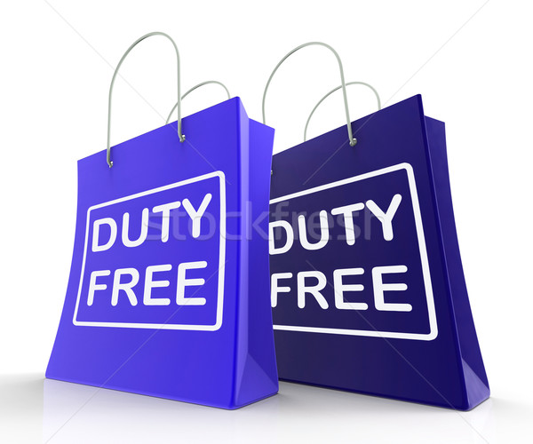 Duty Free Bag Represents Tax Exempt Discounts Stock photo © stuartmiles