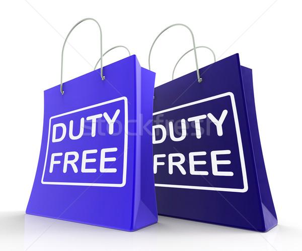 Kötelesség szabad táska adó szatyrok Stock fotó © stuartmiles