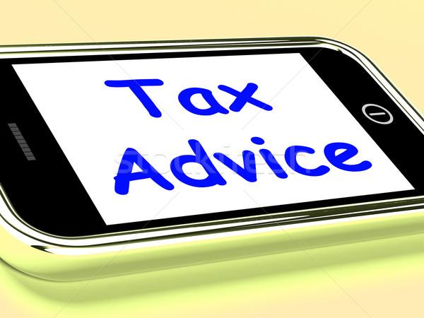 Tax Advice On Phone Shows Taxation Help Online Stock photo © stuartmiles
