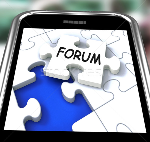 Forum Smartphone Means Online Networks And Chat Stock photo © stuartmiles
