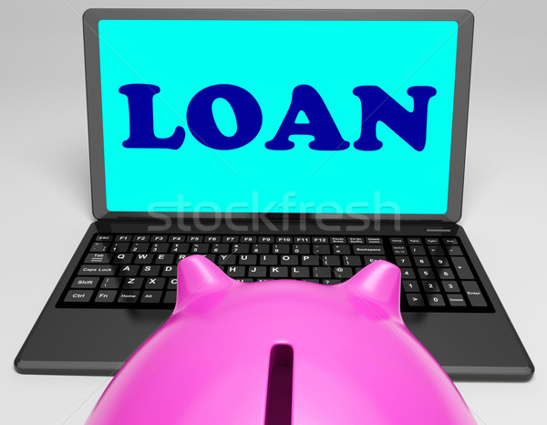 Loan Laptop Means Lending And Borrowing Money Stock photo © stuartmiles